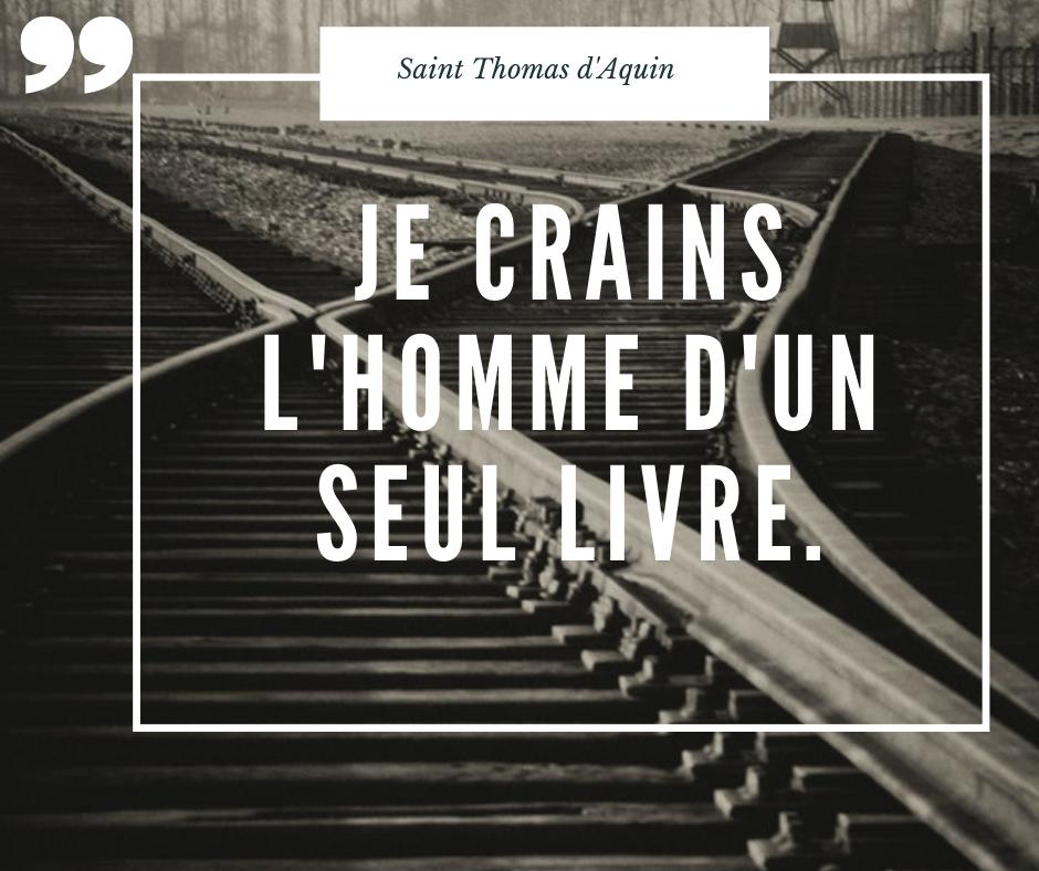 Citation de Saint Thomas d'Acquin